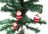 Free shipping Wholesale 15 pcs/lot merry christmas decoration  0.45cm cheap Santas claus ornament