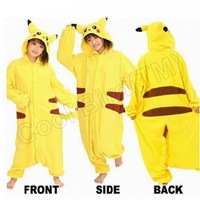 Pikachu Anime Cosplay Christmas Costumes Kigurumi Onesie Adult Pyjamas Sleepwear Nightclothes For Hallowmas Free Shipping