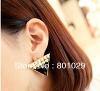 fashion triangle drip stud earrings 3 colours free shipping
