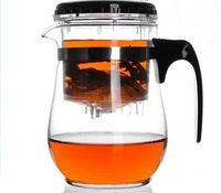 Freeshipping Special Offer 500ml Elegant Cup Glass Tea Pot Kung Fu tea Pot And Heat-resistant Glass Teapot