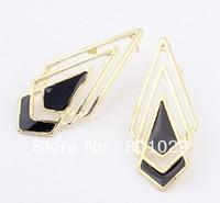 Metal drip fashion rhombus drop earrings free shipping