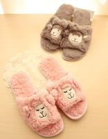 Sheep lovers slippers Women open toe slippers home slippers casual men's at home floor slippers
