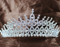 Exquisite Vintage Styled Austrian Rhinestone Crystal Tiara with HAIR COMBS Silver Plated Bridal Pageant Wedding GIFT