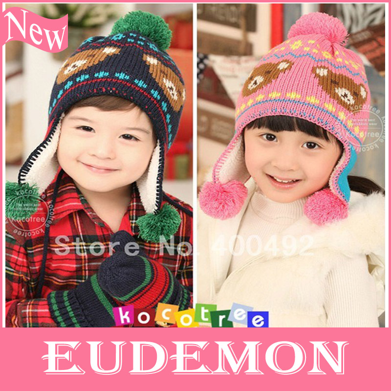 Free shipping 2013 autumn -winter new style brand baby hats, beauty applique caps for kids' clothes accessories, cartoon hat(China (Mainland))