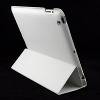 2013 new Slim Synthetic Leather Stand Case Smart Cover For iPad 4 4G Gen 3 3rd 2 White 12045