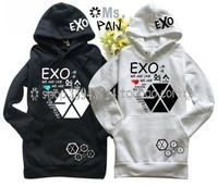 Exo sweatshirt exo with a hood sweatshirt exo sweatshirt black-and-white exo pullover sweatshirt