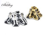 Gold zebra print dog shoes teddy vip bo shoes pet shoes dog shoes with paws pet dog booties winter footwear waterproof chihuahua