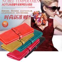 2013 wallet brief wallet genuine leather long women's/lady ultra-thin design wallet multifunctional purse