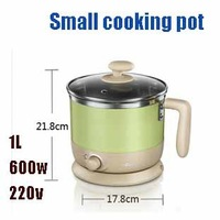 Free shipping, Emperorship small power electric skillet heating pot cooking pot 1L 600w 220v
