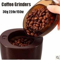 Free shipping, Bear household automatic grinding machine coffee electric powder machine 30g 220v 150w