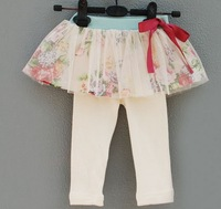 free shipping Baby Kids Children Girls Autumn flower petti leggings, 5pcs/lot, C-G-381