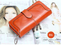 2013 new arrive fashion lady 100%Genuine leather High-grade Long Zipper wallets High-capacity men/women card bag Purse HYX138