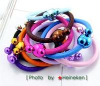 50pcs Hair Fashion Popular Cartoon Mickey head Hair rope Korean style super-burst Hot Wholesale Hair rope Freeshipping CL0348