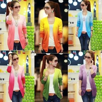 Women Lace Sweet Candy Color Crochet Knit Top Thin Blouse Women Sweater Cardigan