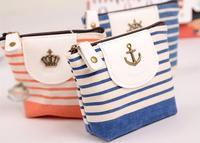 Free shipping/2013 new metals design women men zipper striped mini bag wallets,coin purse,key wallets,carteria