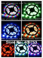5m/lot Flexible SMD 3528 RGB Waterproof LED Strip Light Ribbon Tape Christmas Party Car Indoor Decoration 300leds 60led/m IP65