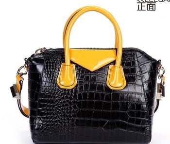 2013 wholesale NEW Star Style Real Genuine Leather Crocodile Pattern Cowhide Women Bags Genuine Leather Handbag Women's bag