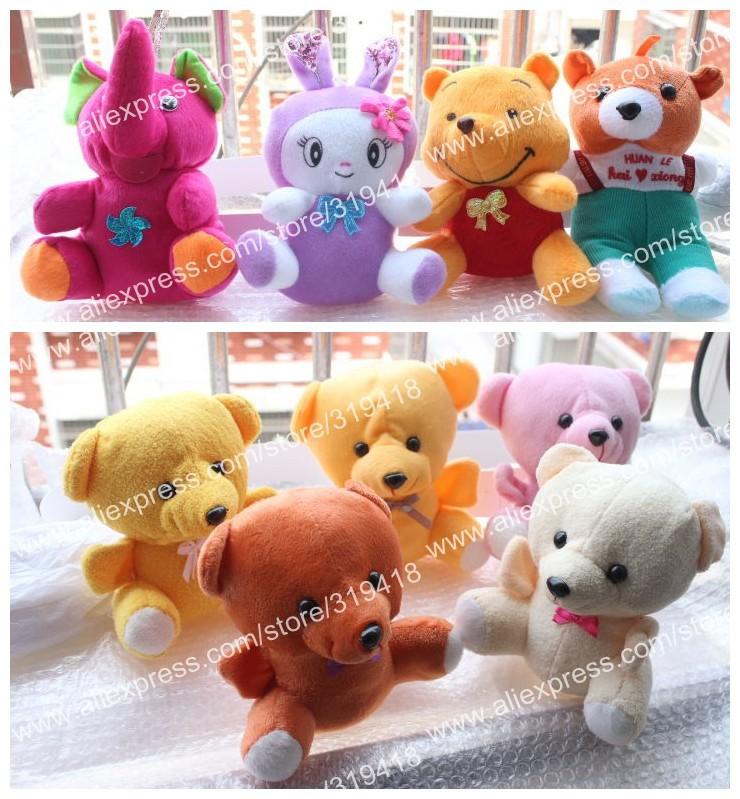50PCS PlushToys, Dolls, Plush animal toy Rabbit Bears Monkey Cat Elephant Frog Fruit Movies & TV Cartoon dolls ...Wholesale Hot(China (Mainland))