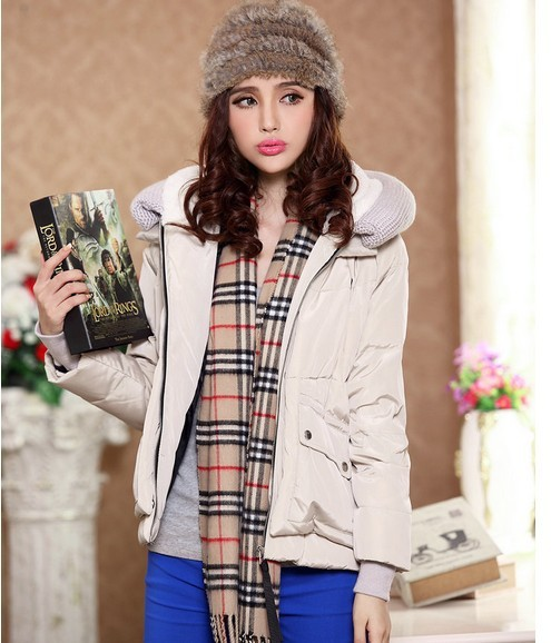 2014 Newest Hot Selling Thick Down Coat Women's Short Design Loose Style Thickening Hoody White Duck Down Outwear FWO18011