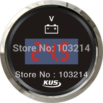 52mm digital voltmeter volatge gauge 9-32V for marine car