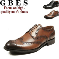 Genuine 2013 new men's business shoes leather lace handmade leather men's dress shoes fashion oxford shoes Bullock
