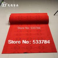 Free Shipping Brushed flower plastic carpet married carpet exhibition carpet wedding red carpet