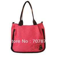 Large Canvas Fashion Candy Colored Ladies Students Leisure Mobile Messenger Bag