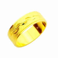 New Arrival!! Fashion 24K GP Gold Plated Mens&Women Jewelry Ring Yellow Gold Golden Finger Ring Free Shipping YHDR015