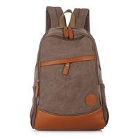 Mens Canvas bag backpack student bag travel bag canvas backpack men's shoulder bags multi-purpose backpack Free Shipping