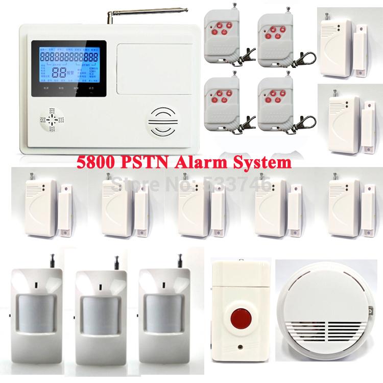 PSTN5800 Wireless Telephone Phone Landline ADSL Home Intruder Burglar Alarm System 103 Defense Zones Emergency Button P57()