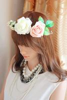 1030247 FLOWER GARLAND/ARTIFCIAL GARLAND/FAKE FLOWER/HAIR BRIDAL/GIRL GARLAND/FATER'S DAYS WREATHS/WEDDING FLOWER WREATH