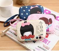 Free shipping/new 2013 kawaii anime purse women's canvas coin purses wallet ,key bags,phone bags mini clutch cosmatic bag