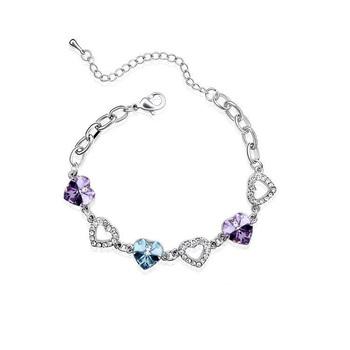 Fashion Brand Telesthesia Bracelet Platinum Plated  SWA ELEMENTS Austrian Crystal Wedding Heart Bracelets