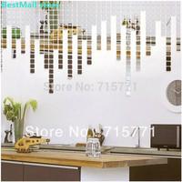 200 PCS Acrylic Crystal mosaic wall sticker decoration wallpaper mosaic  creative DIY  wall sticker decorative mirror mosaic
