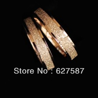 Minimalist matte rose gold titanium steel ring