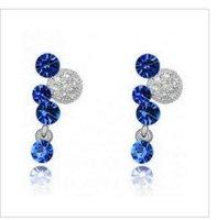 Fashion Austria Crystal Factory Price  Pendant Earrings  Ladies/Girls Drop earrings full rhinestone ball S07.6