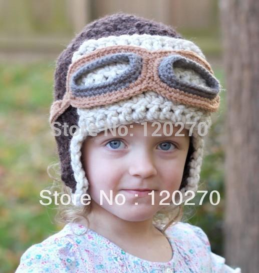 Crochet Pattern For Baby Pilot Hat : Free-Shipping-Handmade-Crochet-Aviator-Hat-Pattern-Knitted ...