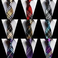 """Famous brands ties 2"""" width tie unique design checkers stripes necktie for men 9 colors for choose"""