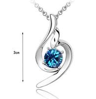 Fashion Austria Crystal   lucky angel Pendant  Popular Austrian Rhinestone Necklace