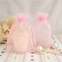 200pcs/lot  Organza bags 8X11cm Freeshipping High quality Organza pouches cufflinks jewellery wedding gift bags pouches