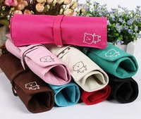 2015 Fabric Real Pen Case Frozen School Wholesale And Mixed Batch of Fashion Simple Cute Teddy Bear Candy Colors Canvas Pen Bag