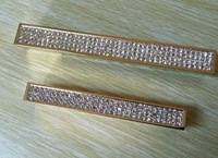 128mm golden-color Free shipping K9 crystal glass furniture handle drawer handle