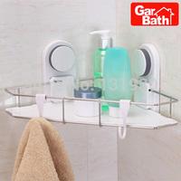 Free shipping Garbath corner shelf with suction cup bath triangle rack bath shelf GB261008