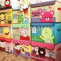 Children cartoon storage box oxford cloth folding storage bin clothing organizer 8 styles for optional KT001