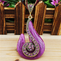 Fashion Jewellery Vintage Look Antique Bronze Plated Milet Chain Snail Pendant Necklace N014