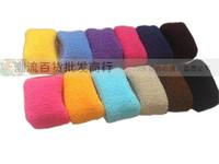 12Pcs/lot! Ultra Elastic Candy Multicolour Towel Headband Hair Rope  Broad-brimmed