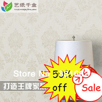 Free shipping! Discounting 0.53m european style damask wallpaper pvc contact paper
