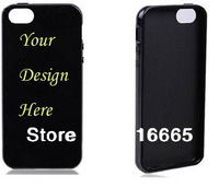 100pcs/lot Custom TPU case for iphone 5 5s ,Soft gel silicone cover with oem customized design printing free DHL 20pcs/design
