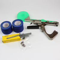 1 Set Useful Plant Tying Tapetool Tapener Machine +10 Rolls Tape+ Staples+ Extra Blade Home Garden Supply