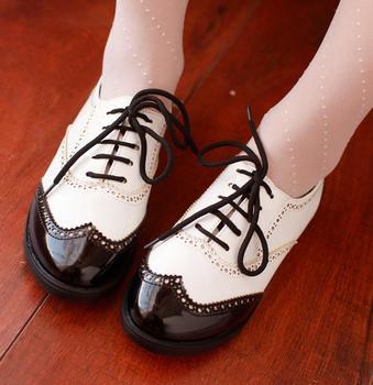 Бесплатная доставка новой моде japanned кожаные черный белый цвет кружева танцевальные ...